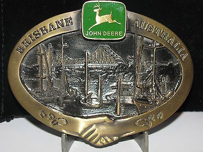 John Deere Brisbane AUSTRALIA Storey Bridge 1997 Belt Buckle Ltd Ed #225 of 250