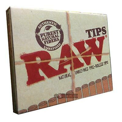 RAW Pre Rolled Filter Tips / Roach - Natural Unrefined Rolling Paper Tips