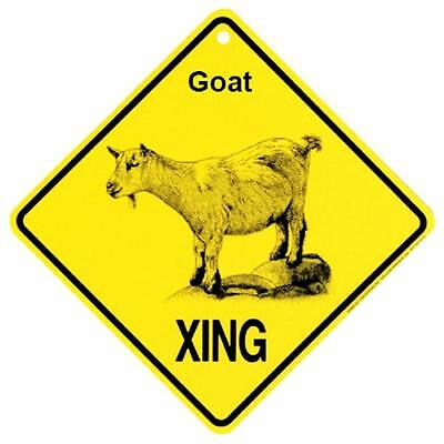 Goat Crossing Xing Sign New Made in USA
