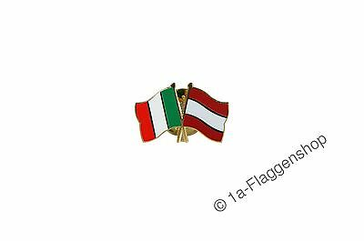 Italy - Austria Flags Pin Flag Pins Banneret Pin