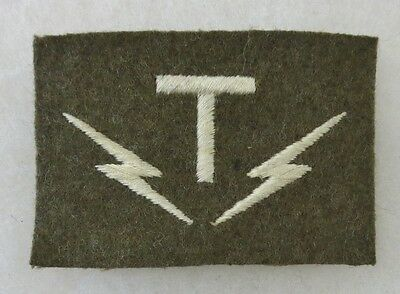 ORIGINAL Vintage MILITARY COMMUNICATIONS PATCH INSIGNIA