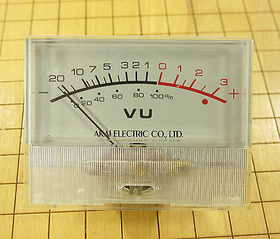Akai GXC-730D Cassette Deck Repair Part - VU METER, Original, Silver Face