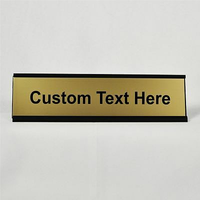 Funny Desk Plate | Personalized - Customized | Gold Plate with Black Holder