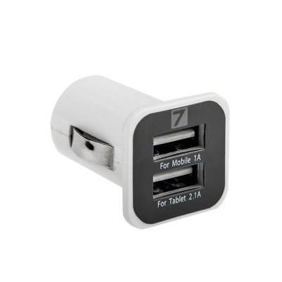 Fast 2.1A Twin 2 Port USB Dual Car 12V Charger cigar lighter power outlet socket
