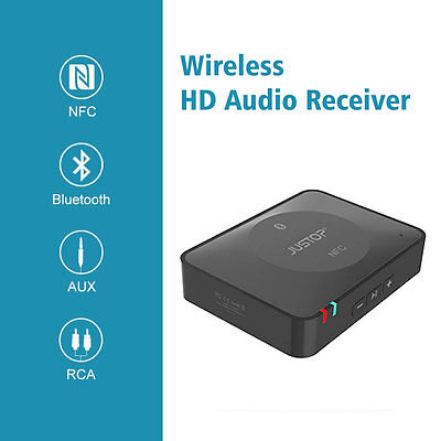 JUSTOP Bluetooth Wireless Audio Receiver Music Adapter For Speakers Home Cinema