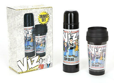 Viz Comic Top Gear 500ml Flask Travel Mug Gift Set Camping Hot Cold Lunch Drinks