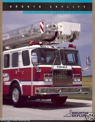 Fire Equipment Brochure - Bronto Skylift - F100 Rescue Ladder - 2002 (DB121)