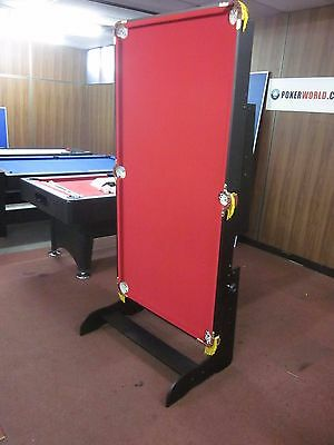 6 Foot Foldable Pool  Table With Accessories [Red]