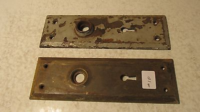 2 Antique Steel Door Plates  #10