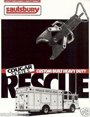 Fire Equipment Brochure - Saulsbury - Cougar Custom Heavy Duty Rescue (DB135)