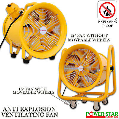 Atex Portable Ventilator Axial Ducting Blower Metal Extractor Industrial Fan