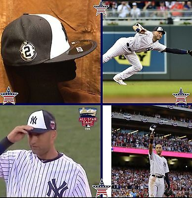 Derek Jeter All-Star Game Hat  2 Patch MLB New Era LIMITED NY Yankees aba56beacf26
