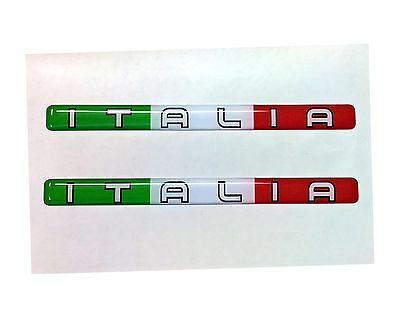 3D Domed Italia Flag Stickers Italy Tricolore for Car Motorcycle Helmet Laptop