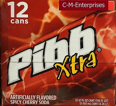 Pibb Extra Spicy Cherry Soda 12 Pack