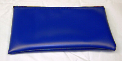 "11""x6"" Zippered Leatherette Vinyl Bank Deposit Bag U-Pick Color"