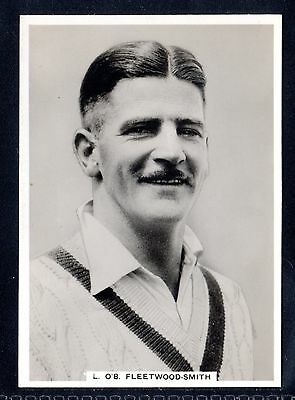 "Rare Ardath Photocards ""g"" Cricketers-General-L. O`b. Fleetwood-Smith-Australia"