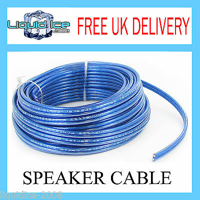 12 AWG 2x3.3mm² BLUE SPEAKER CABLE WIRING CABLING SOLD BY THE 1 METRE LENGTHS