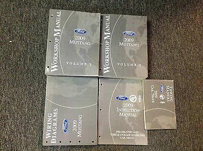 2009 Ford Mustang Gt Cobra Mach Service Shop Repair Manual Set W Parts Catalog 169 95 Picclick