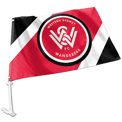 Western Sydney Wanderers A-League Team Logo Car Flag * Easy to Attach!