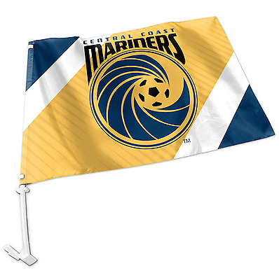 Central Coast Mariners A-League Team Logo Car Flag * Easy to Attach!