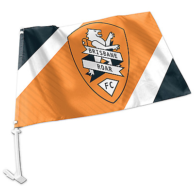 Brisbane Roar A-League Team Logo Car Flag * Easy to Attach!