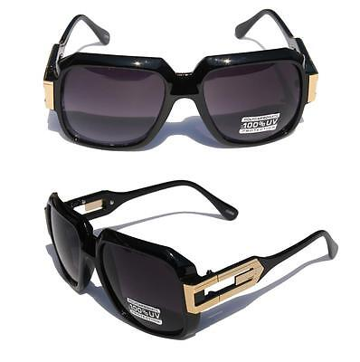 Square Vintage Retro Hipster SunGlasses Gold Metal Accents  - dmc