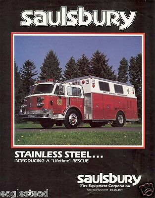 Fire Equipment Brochure - Saulsbury - Stainless Steel Rescue Truck (DB156)