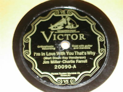 J. MILLER / C. FARRELL...I'M IN LOVE WITH YOU...1926 Pre-War VICTOR-78