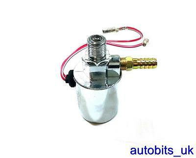12v 24v Truck Van Universal Chrome Plated Air Horn Electric Solenoid Valve 1/4""