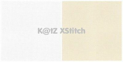 "15"" x 18"" 14 COUNT AIDA CROSS STITCH FABRIC (White / Cream)"