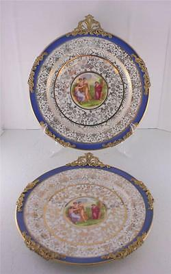 Lot 2 Syracuse China Onondaga Pottery OPC Dessert Plates Angelica Kauffman Blue