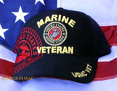 Us Marines Veteran Hat Cap Wowmh Pin Up Uss Fmf Maw Mar Div Fssg Vet Usmc Gift