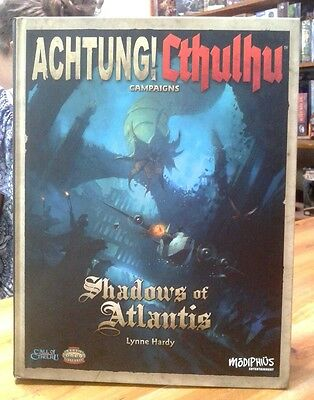 Achtung! Cthulhu Shadows of Atlantis Camoaign Hardback Call of Cthulhu