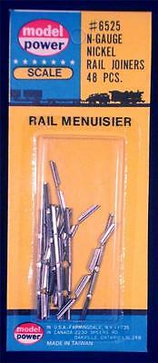 Model Power Nickel Rail Joiners x 48 6525 N Gauge