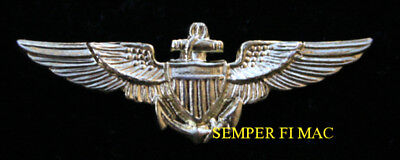 Us Navy Mini Pilot Wing Minature Hat Lapel Pin Ww 2 Naval Topgun Uss Gift Wow