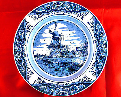 VINTAGE GOUDA HOLLAND BLUE DELFT WINDMILL WALL PLAQUE – SEE OFFER!!!