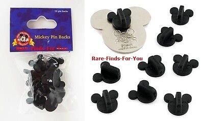 Disney Parks Rubber Replacement Mickey Mouse Icon Trading Pin Backs 12 ea. (NEW)