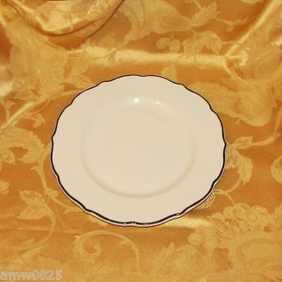 SYRACUSE RESTAURANT CHINA BLACK PLATINUM DINNER PLATE SCALLOPED RIM CANADA