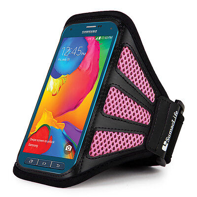 Black/Pink Workout Running Gym Armband Case for Samsung Galaxy S5 Active Sport