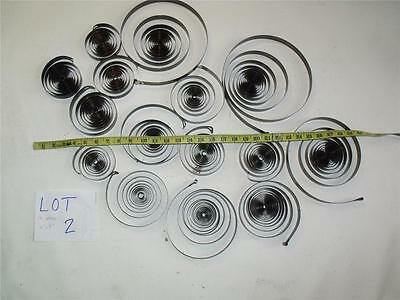 "15 Large 5"" to 10"" Clock main Springs for Altered Art, Steampunk, Sculpture"