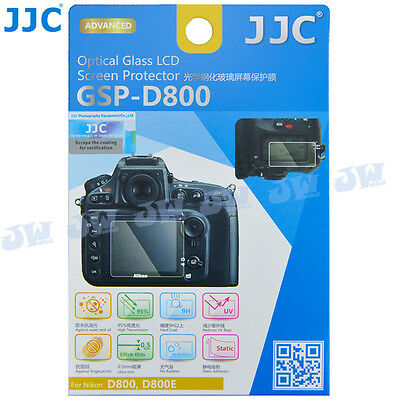 JJC 9H HD Optical Tempered Glass Screen Protector for Nikon D800 D800E Camera