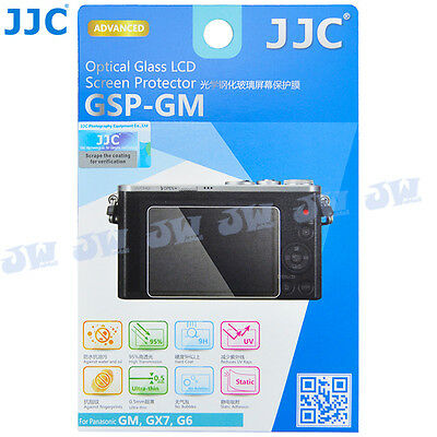 JJC 9H HD Optical Tempered Glass LCD Screen Protector for Panasonic GM, GX7, G6