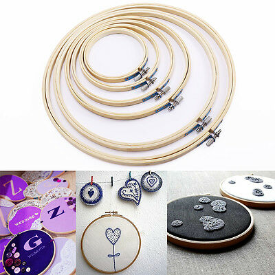 6 pcs in set Wooden Embroidery Cross Stitch Ring Hoop 4''/5''/7''/ 8''/10''/12''