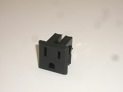 Mpj 32041Pl Ac Power Snap-In Outlet Receptacle Nema 5-15R 3 Wire 15A 250V