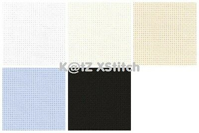 18 COUNT ZWEIGART AIDA 50 x 55cm / 19½ x 21½in (FAT QUARTER) - Various Colours