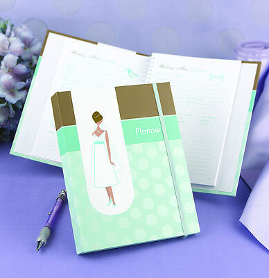 Turquoise Aqua Blue Wedding Planner Planning Book