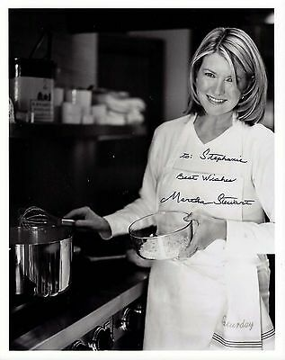 Martha Stewart signed 8x10 photo / autograph