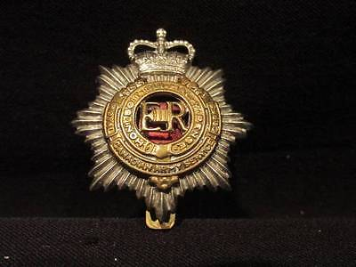 RCASC Canada Post WWII Military Cap Badge with Slider Strap & Red Centre