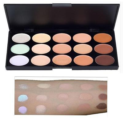 15 Colors Professional Waterproof Contour Face Cream Makeup Concealer Palette