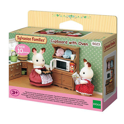 SYLVANIAN Families Cupboard with Oven Dolls Furniture 5023